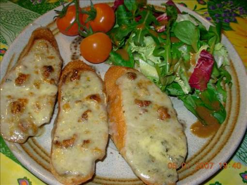 Stilton and Walnut Welsh Rarebit - Blue Cheese on Toast
