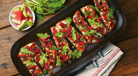 Strawberry-Balsamic Ricotta Bruschetta