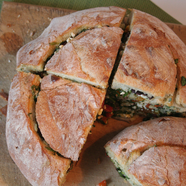 Stuffed Cottage Bread Loaf