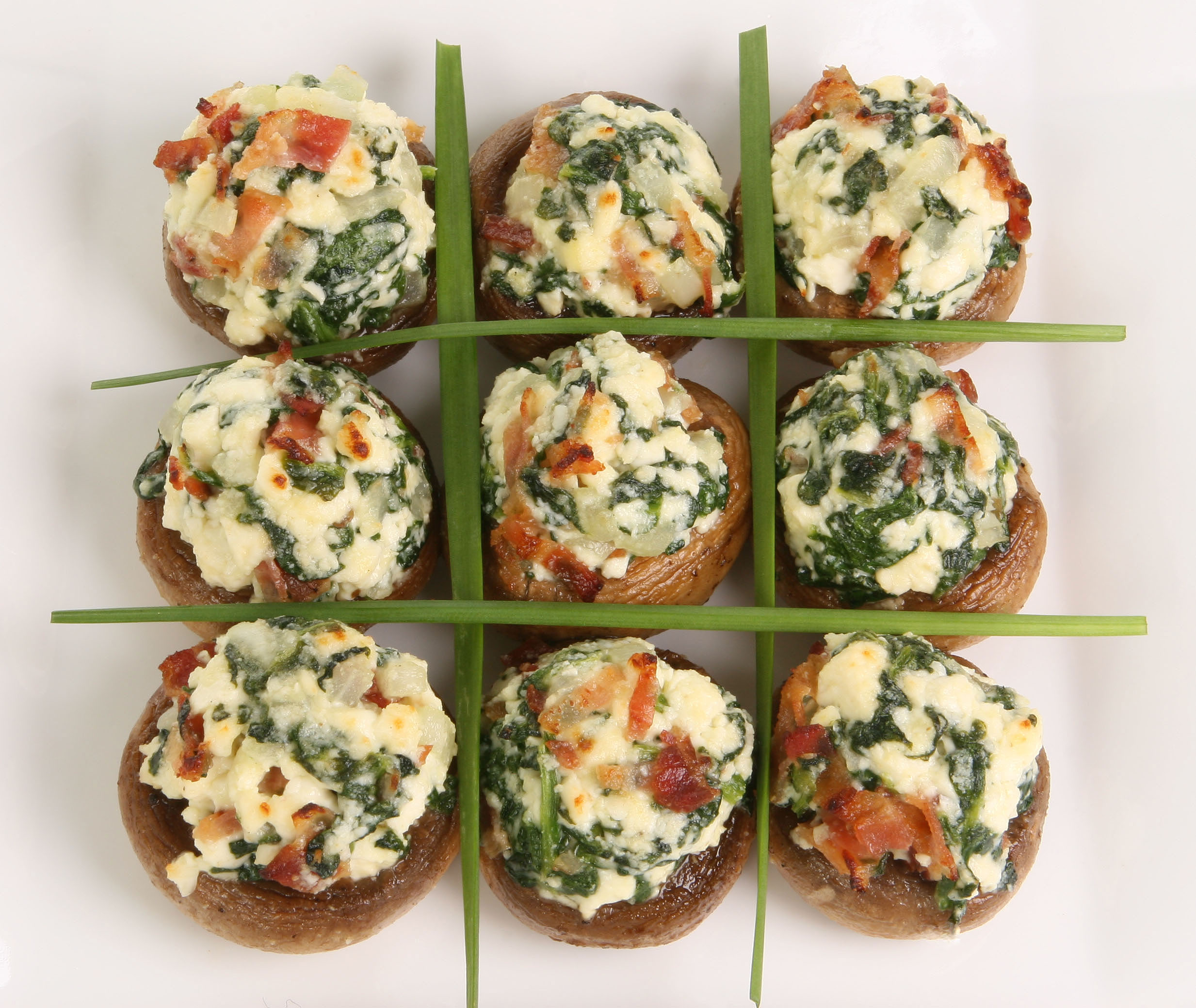 Stuffed Mushrooms with Feta and Spinach
