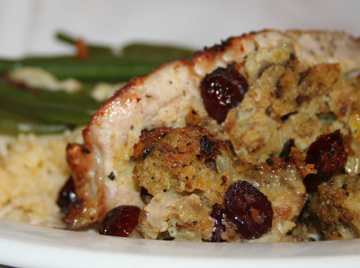 Stuffed Pork Chops with Cranberries