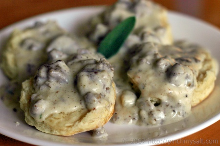 Super Sausage Gravy and Cheater Biscuits