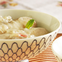Sweet Banana Soup, With Tapioca and Coconut