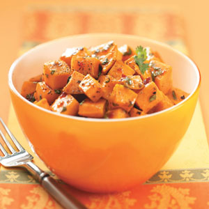 Sweet Potatoes With Chipotle Honey Butter