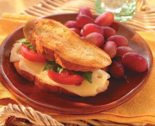 Swiss Melt With Tomato and Fresh Basil