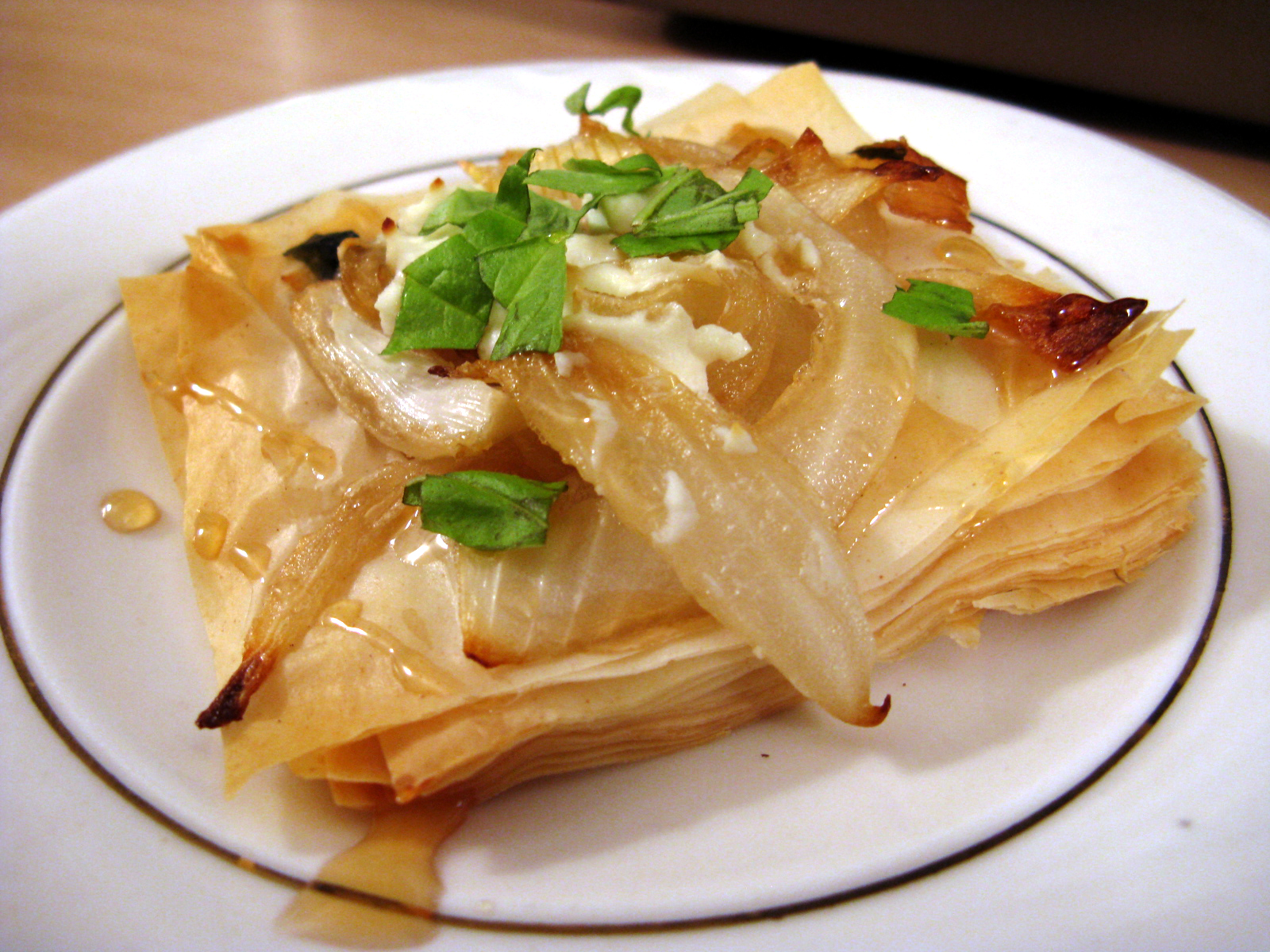 Three-Onion Pie with Feta or Goat Cheese