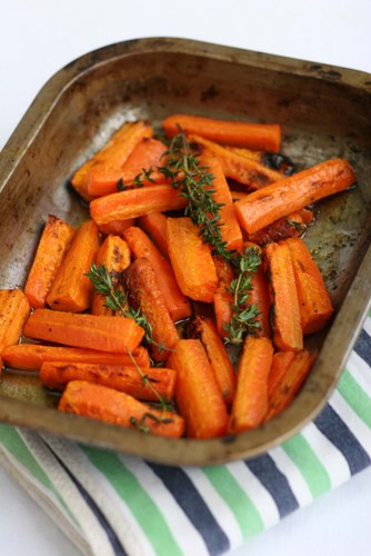 Thyme Roasted Carrots