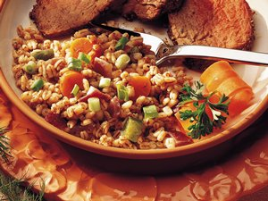 Toasted Barley With Mixed Veggies