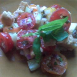 Tomato-Bread Salad with Basil and Capers