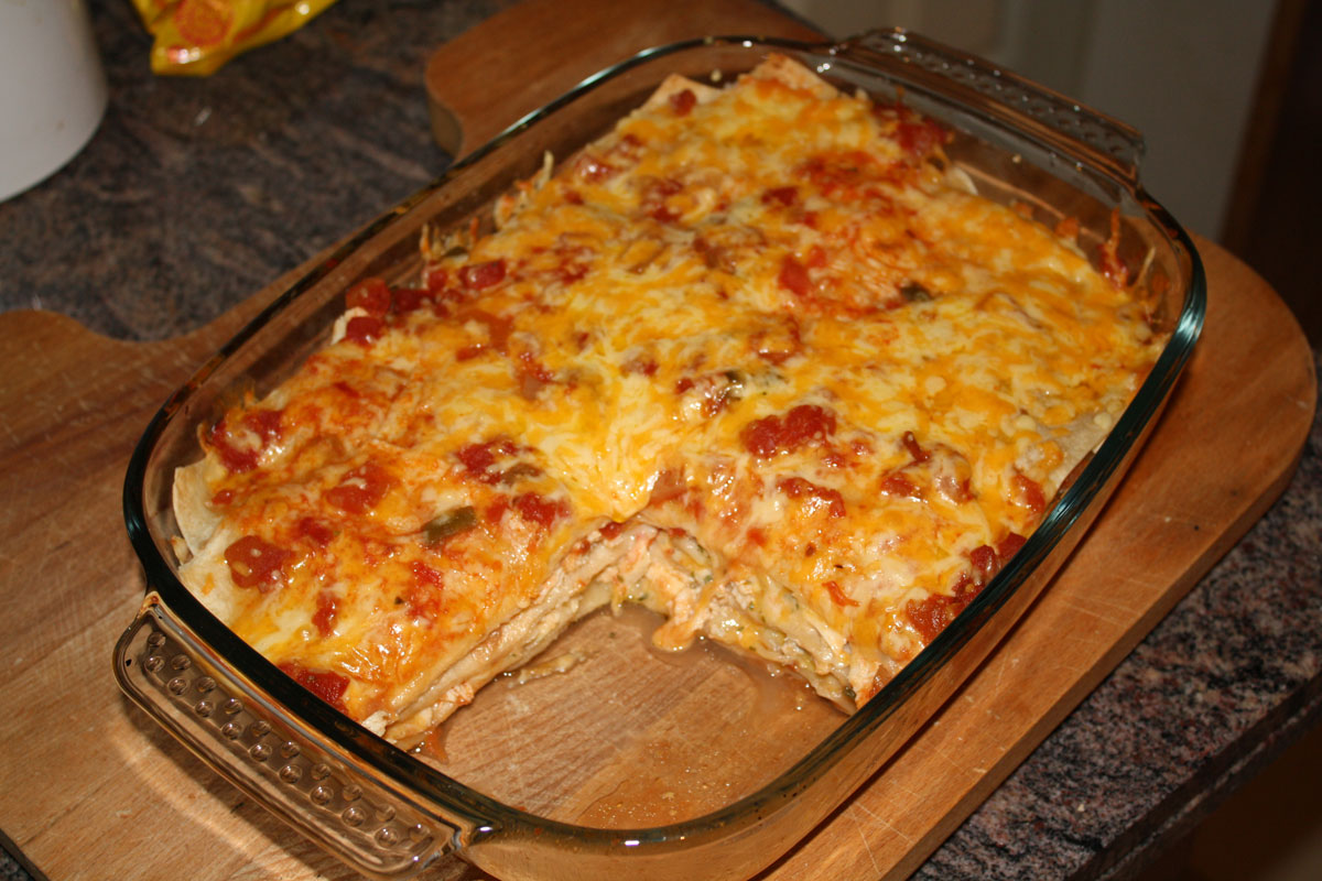 Tuna or Chicken Enchilada Casserole