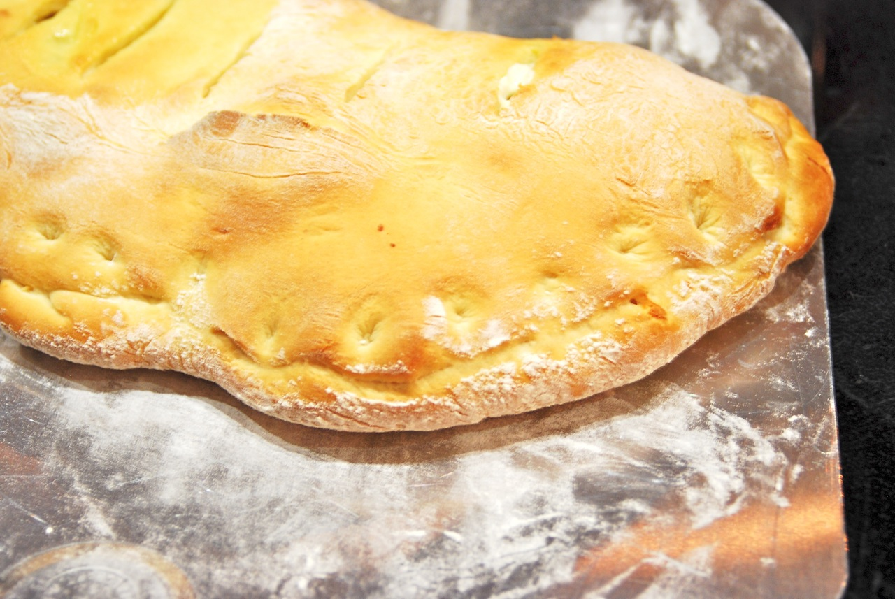 Turkey-Pesto Calzone