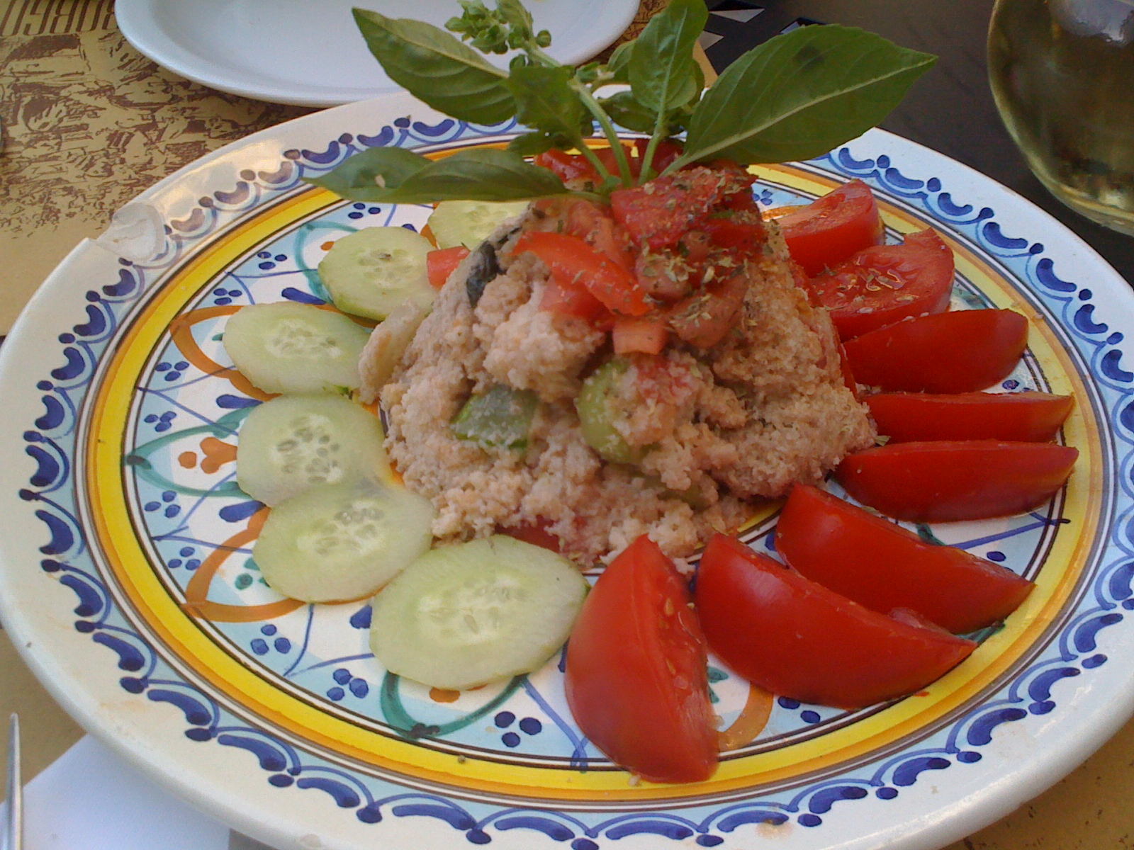 Tuscan Bread and Tomato Salad With Parmesan Cheese