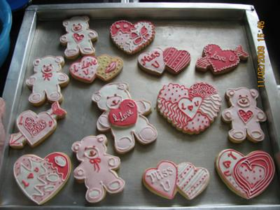 Valentine Rich Rolled Cookies