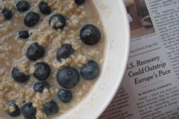 Vanilla Blueberry Oatmeal
