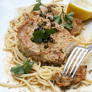 Veal Piccata with Lemon, Capers, and Parsley-Butter Sauce