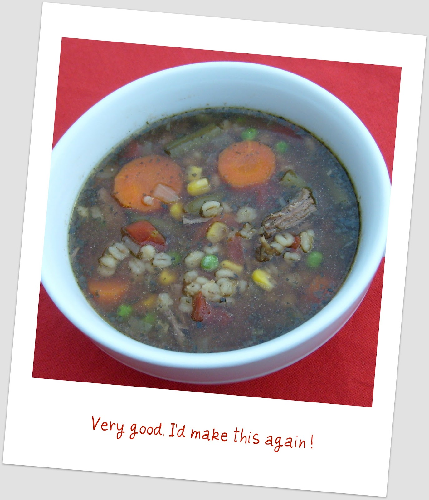 Vegetable-Beef Barley Soup (Crock Pot)