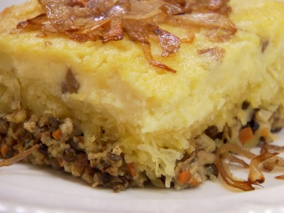 Vegetable Shepherd's Pie with Baked Beans