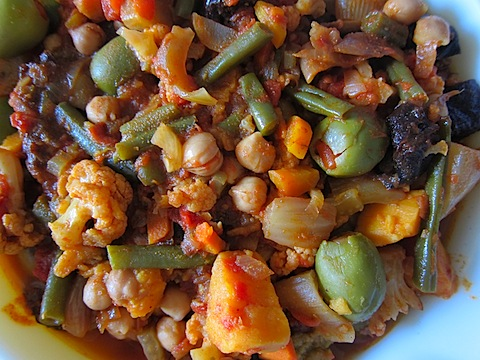 Vegetable Tagine With Olives and Prunes