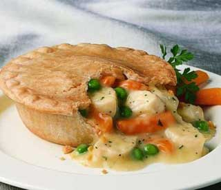 Veggie and Chicken Pot Pie