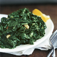 Very Easy Garlic Sauteed Spinach