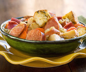 Warm and Toasty Smoked Sausage Stew