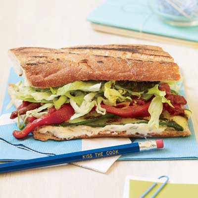 Warm Grilled Veggie Sandwiches
