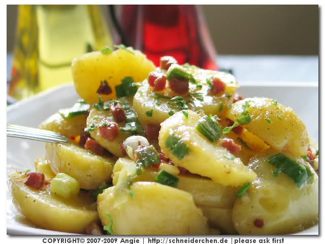 Warm or Cold Potato Garden Salad