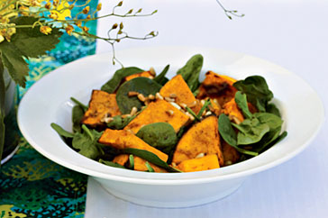 Warm Roast Pumpkin Salad