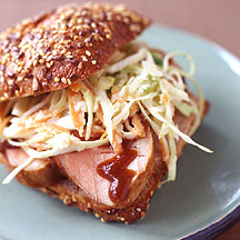 Weight Watchers BBQ Pork Sandwich W/Coleslaw
