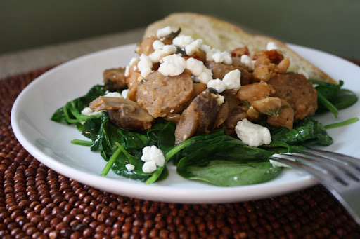 White Beans & Wilted Spinach Salad