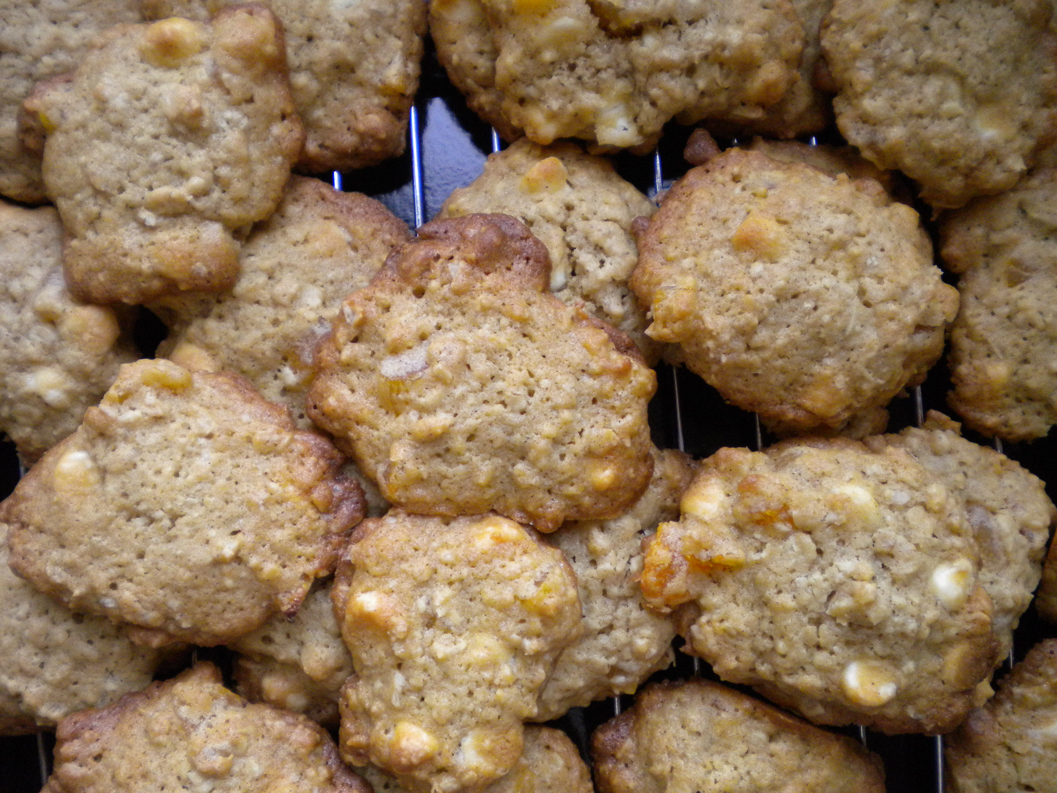 White Chip Apricot Oatmeal Cookies