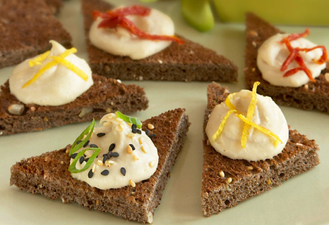 Whole-Grain Toast Triangles with Hummus
