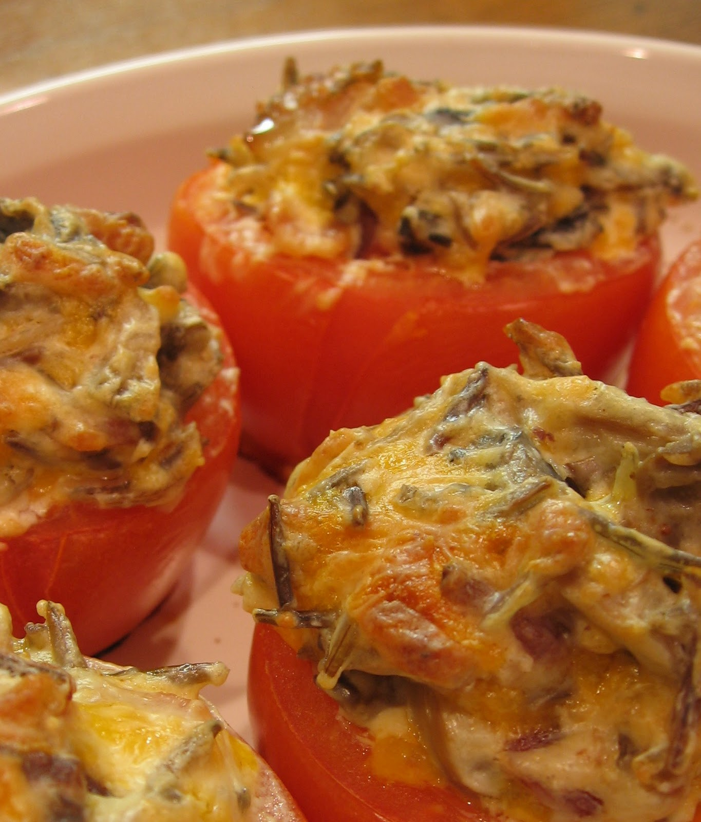 Wild Rice Filled Tomatoes
