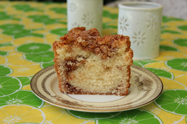 William-Sonoma Warm Pear Cake With Walnut Caramel Topping