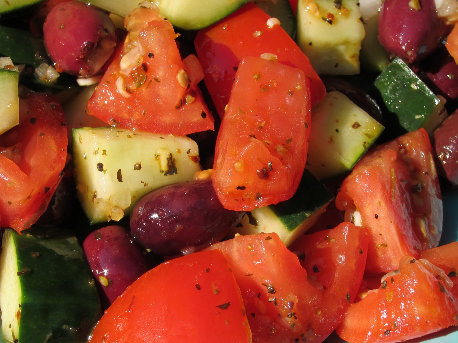 Winter Tomato and Cucumber Salad
