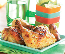 Yogurt-Marinated Butterflied Chicken