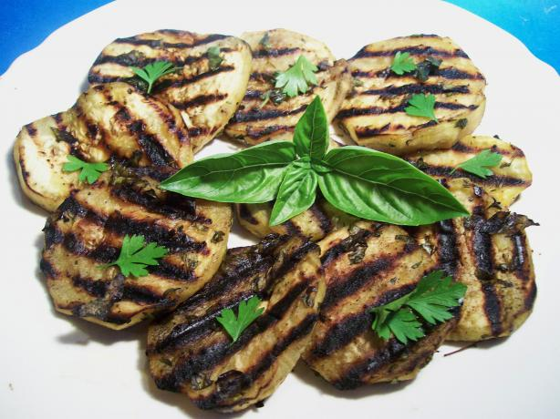 Yummy Low Carb Low Fat Grilled Eggplant (Aubergine)