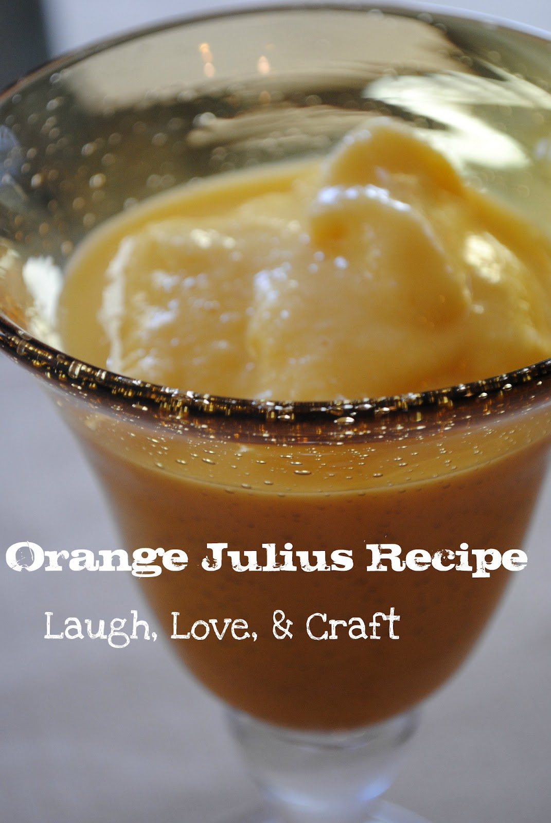Yummy Orange Slushies ( Orange Julius )