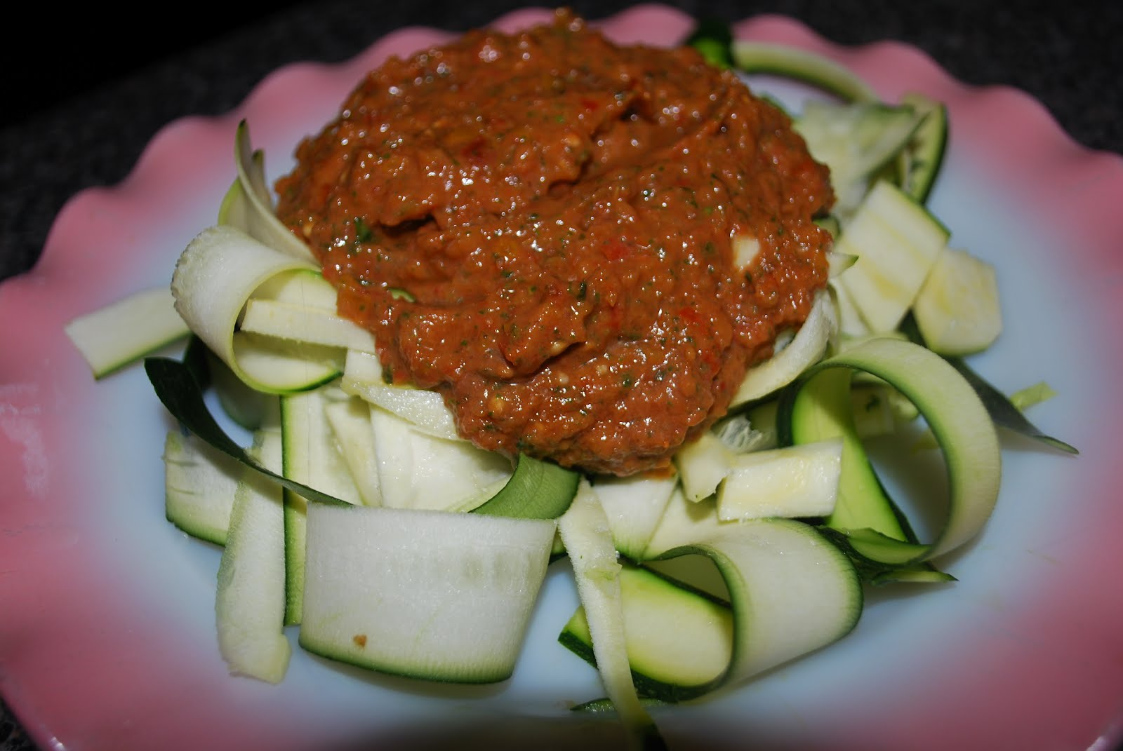 Zucchini Fettuccine with Fresh Marinara