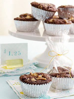 Zucchini Nut Chocolate Muffins