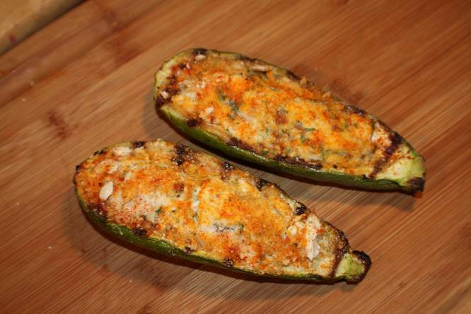 Zucchini Stuffed With Herbs